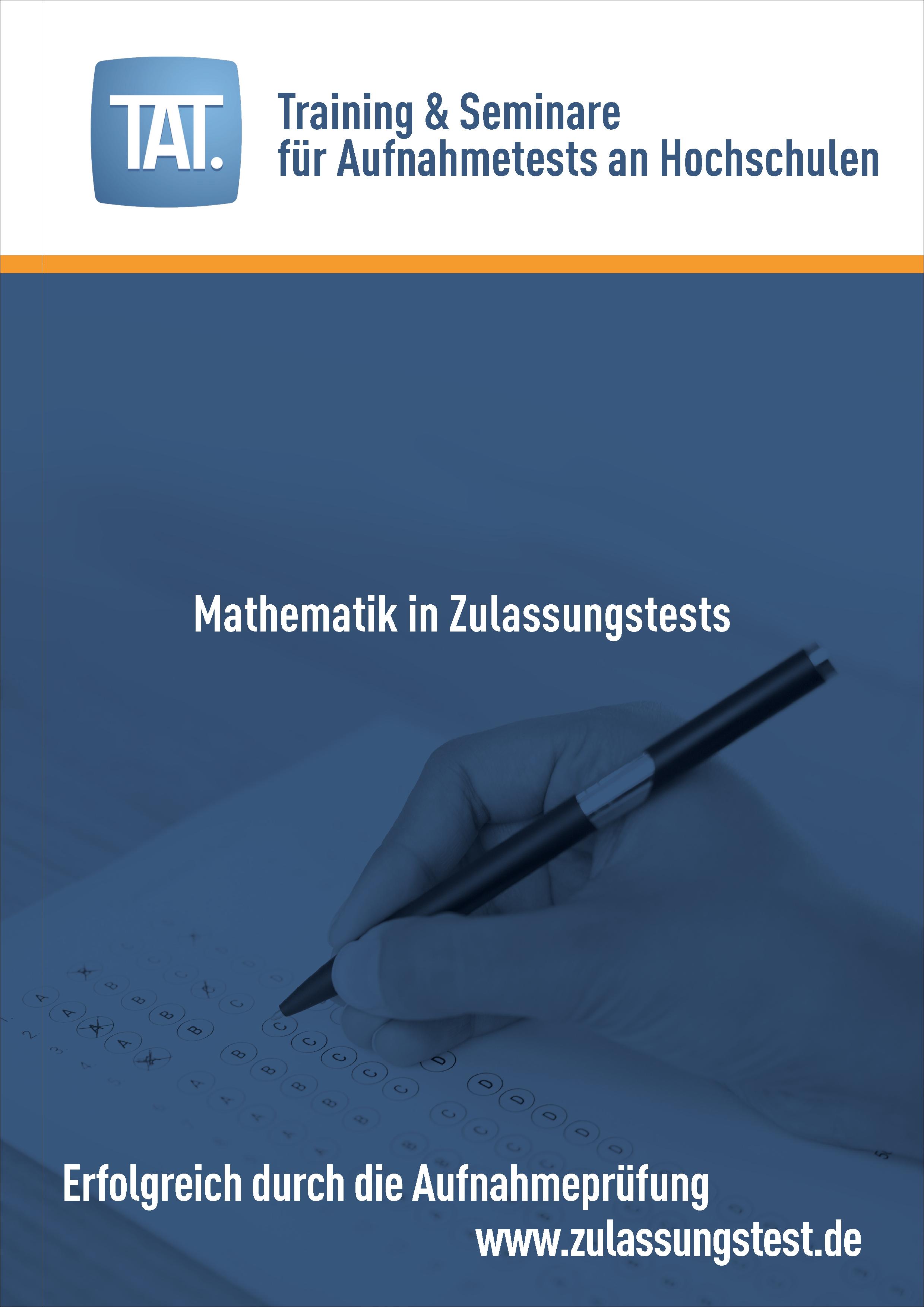 Mathematik In Zulassungstests Tat Zulassungstest